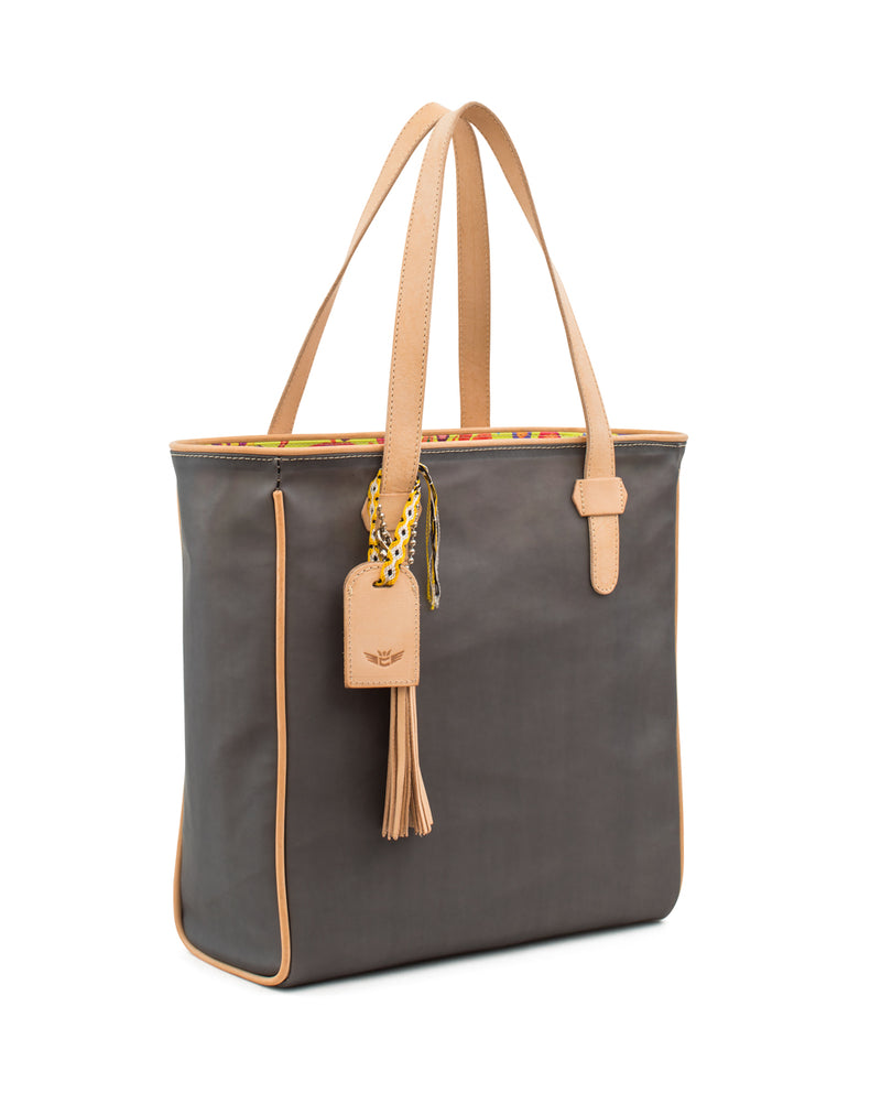 Smokey Classic tote in grey jelly by Consuela, side view