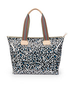 Lola Zipper Tote with Lola ConsuelaCloth™ exterior by Consuela, front view
