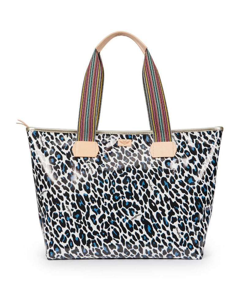 Lola Zipper Tote with Lola ConsuelaCloth™ exterior by Consuela, back