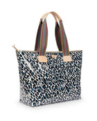 Lola Zipper Tote with Lola ConsuelaCloth™ exterior by Consuela, side view