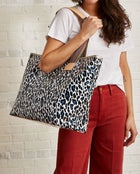 Lola Zipper Tote with Lola ConsuelaCloth™ exterior by Consuela, model view 1