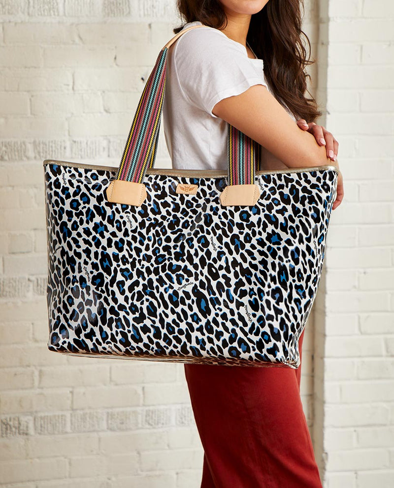 Lola Zipper Tote with Lola ConsuelaCloth™ exterior by Consuela, model view 2