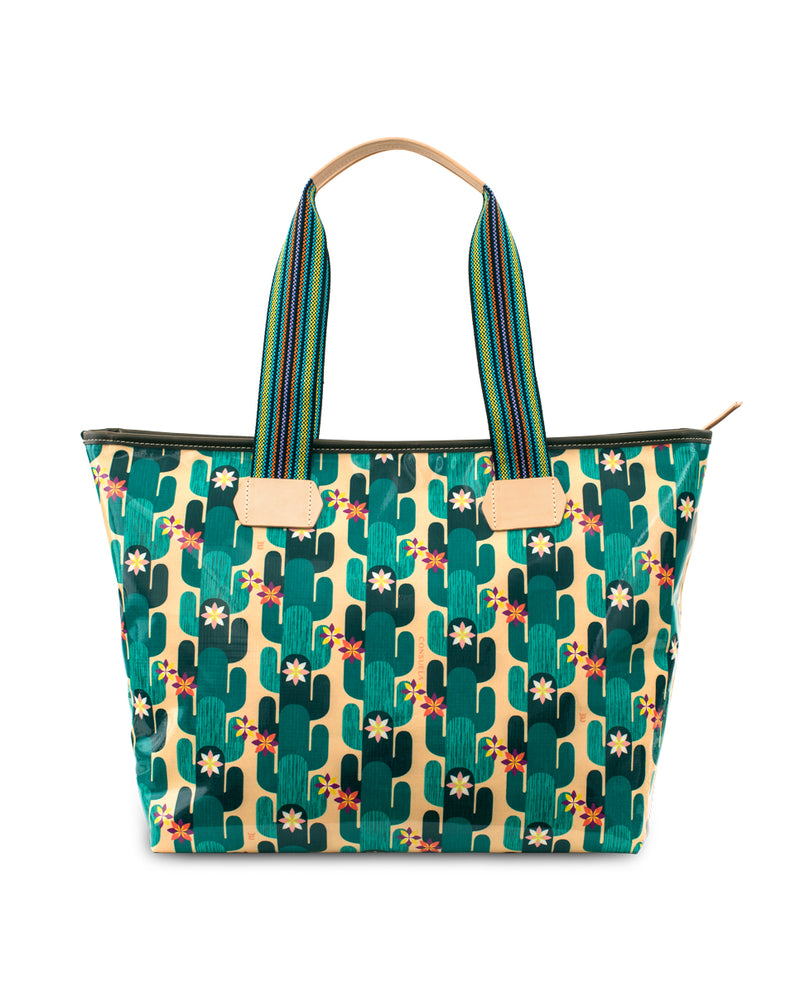 Spike Zipper Tote