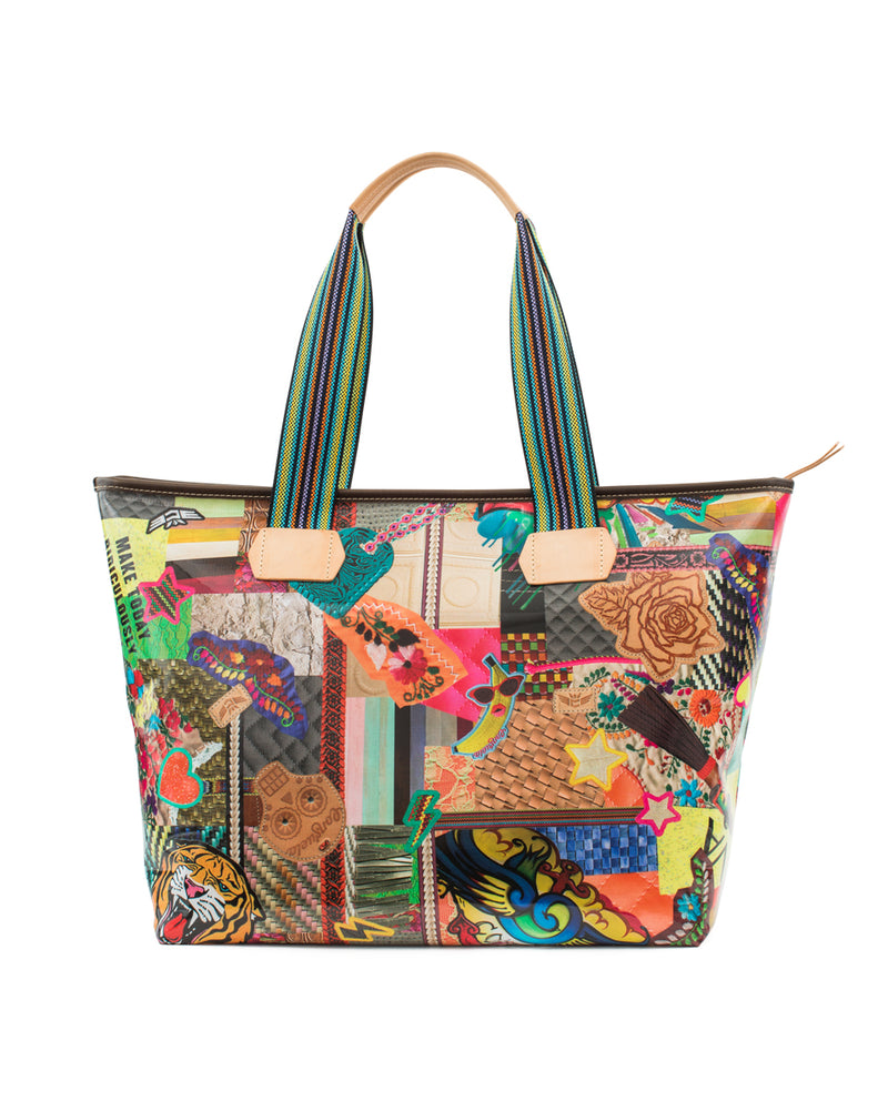 Patches Zipper Tote