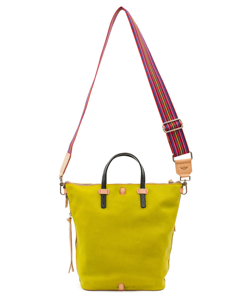 Margarita Sling in limon pebbled leather by Consuela, back view