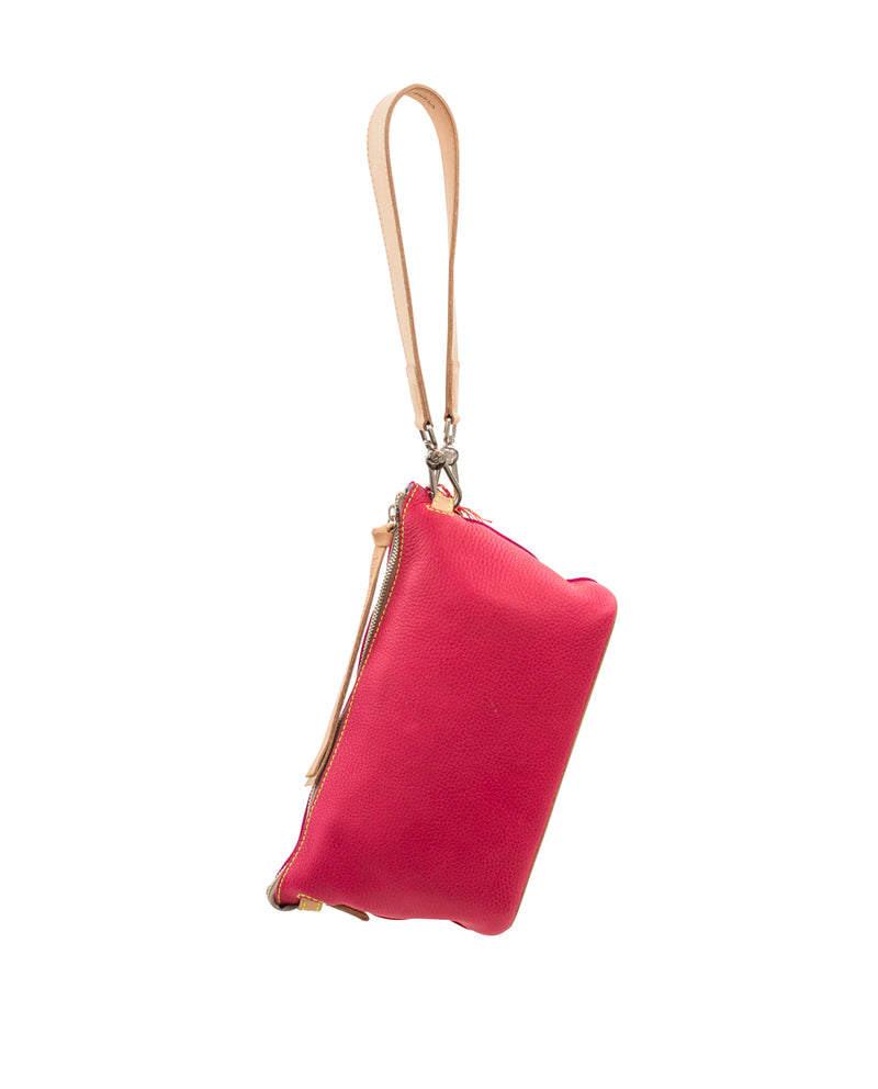 Rosa Your Way Bag in pink pebbled leather by Consuela, back view
