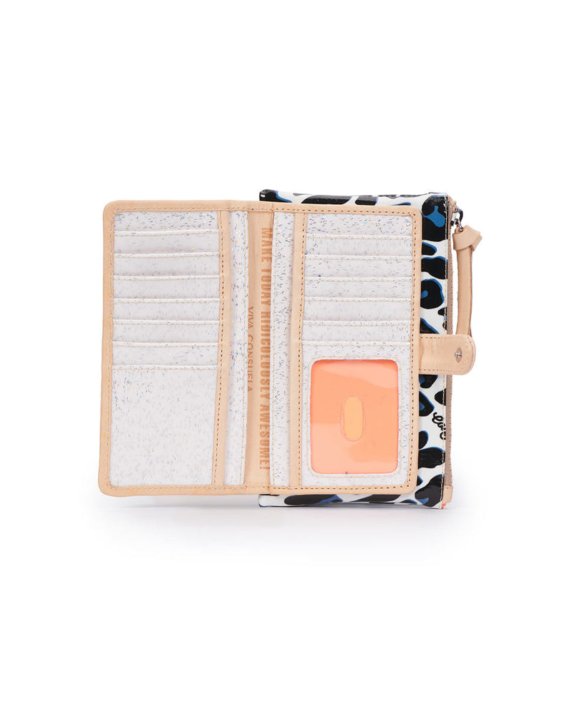 Lola Slim Wallet in ConsuelaCloth by Consuela, interior view