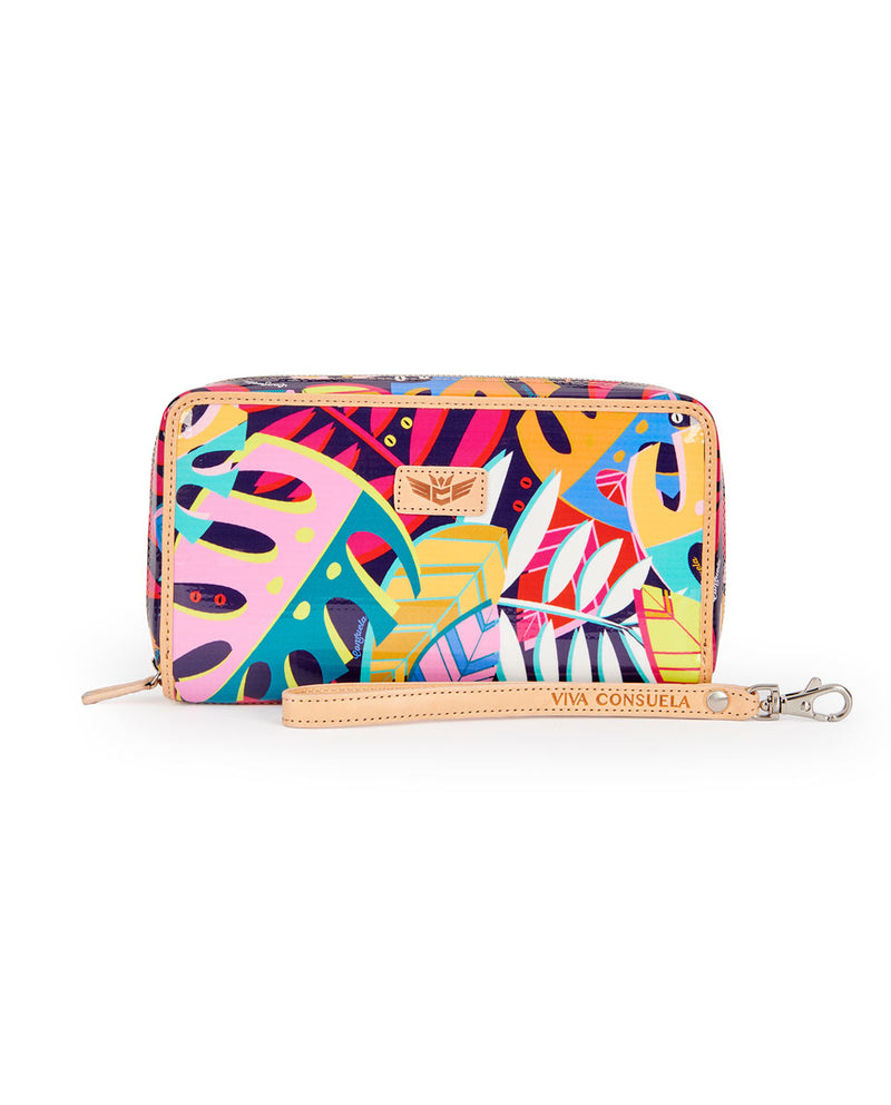 Maya Wristlet Wallet in ConsuelaCloth by Consuela, front view