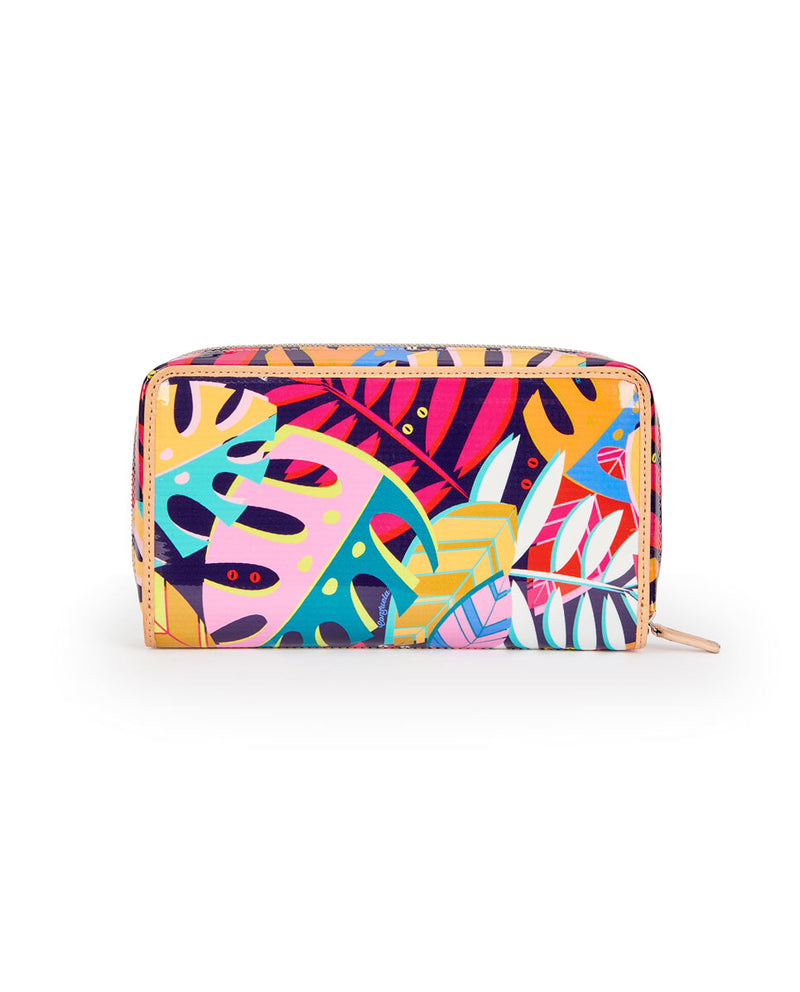 Maya Wristlet Wallet in ConsuelaCloth by Consuela, back view