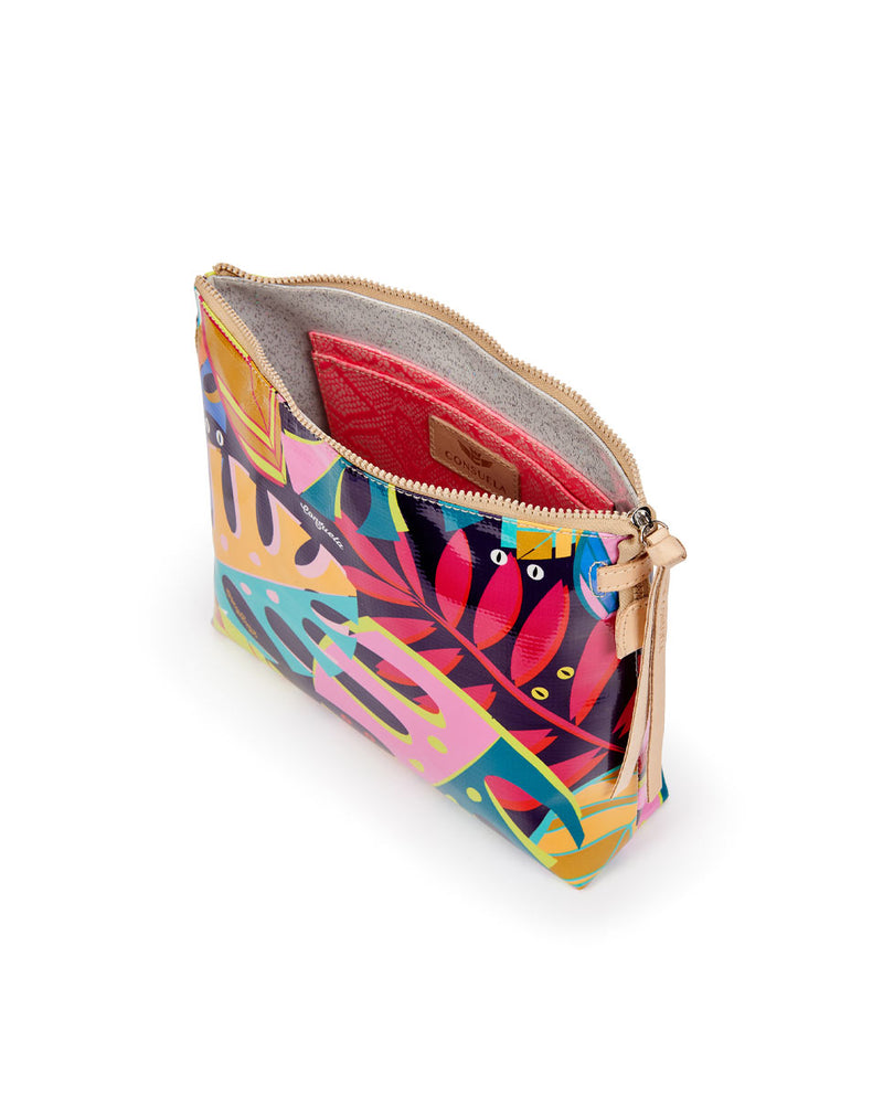 Maya Downtown Crossbody in ConsuelaCloth by Consuela, interior view