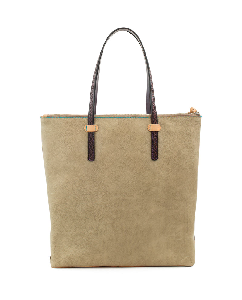 Paloma Market Tote in pebbled leather by Consuela, back view