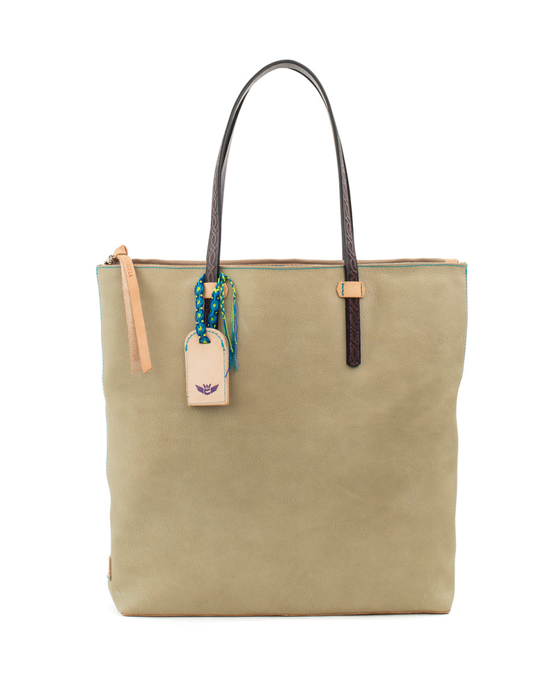 Paloma Market Tote in pebbled leather by Consuela, front view