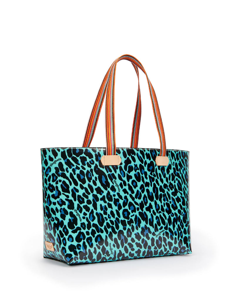 Gem Breezy East/West Tote in Gem ConsuelaCloth by Consuela, side view
