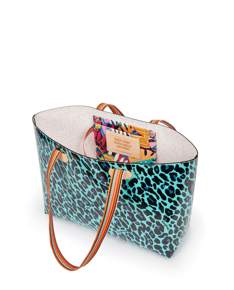 Gem Breezy East/West Tote in Gem ConsuelaCloth by Consuela, open view
