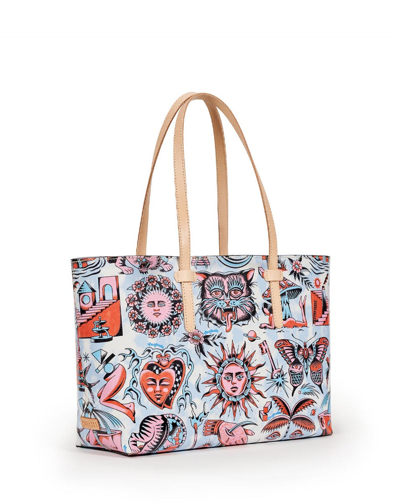 Consuela Vico Breezy East/West Tote Side View