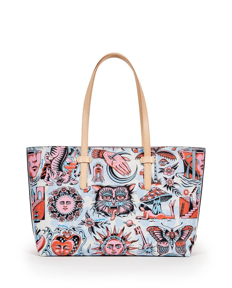 Consuela Vico Breezy East/West Tote Back View