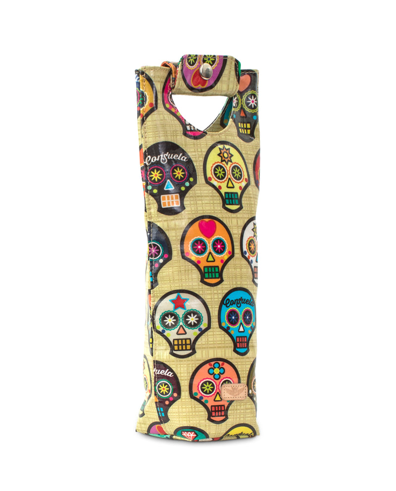 Sugar Skulls Wine Carrier