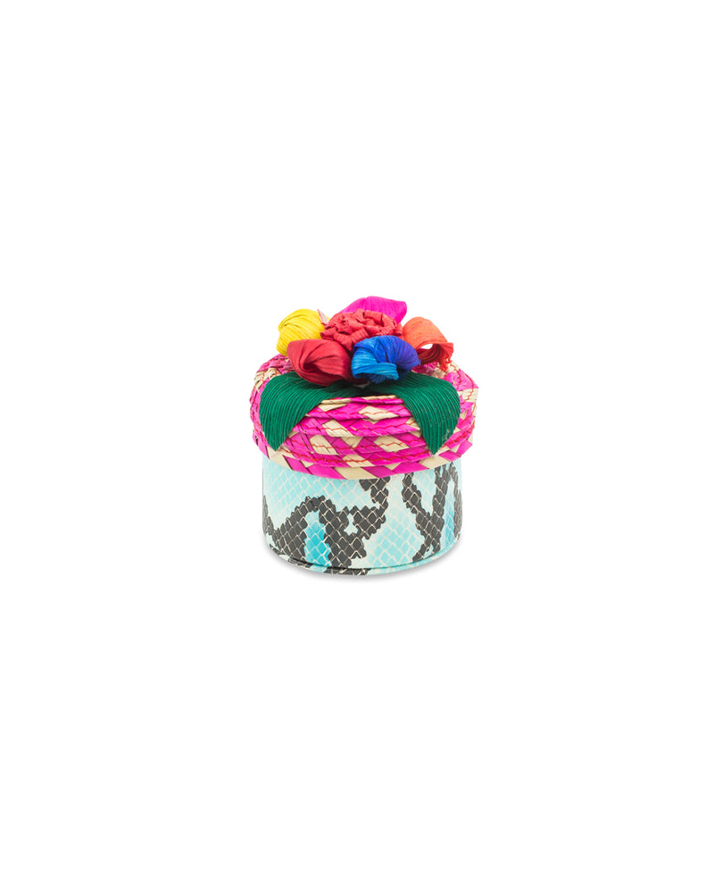 Carmen Mini Trinket box in Carmen ConsuelaCloth™ by Consuela, front view