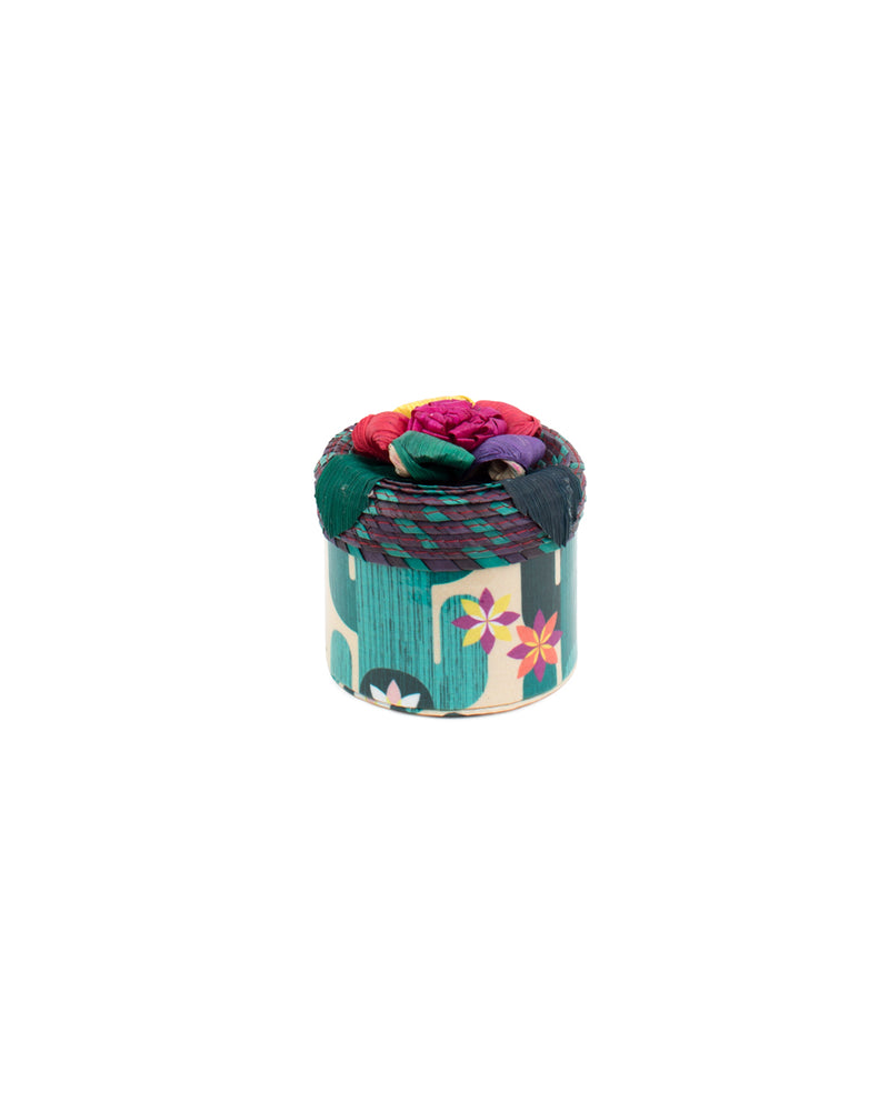 Spike Mini Trinket box in Spike ConsuelaCloth™ by Consuela, front view