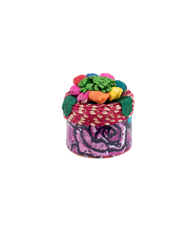 Rosie Basic Trinket box in Rosie ConsuelaCloth™ by Consuela, front view