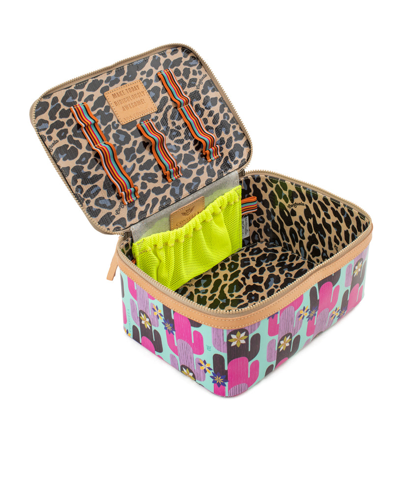 Buffy Train Case in ConsuelaCloth™ by Consuela, interior view