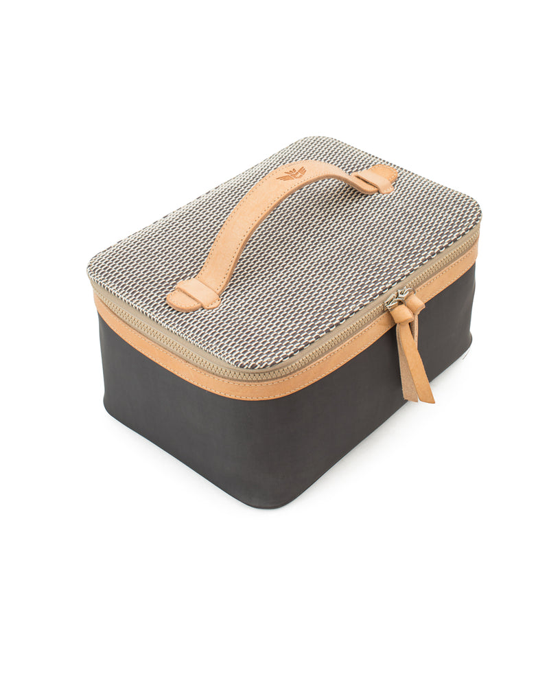 Smokey Train Case in grey by Consuela, top view