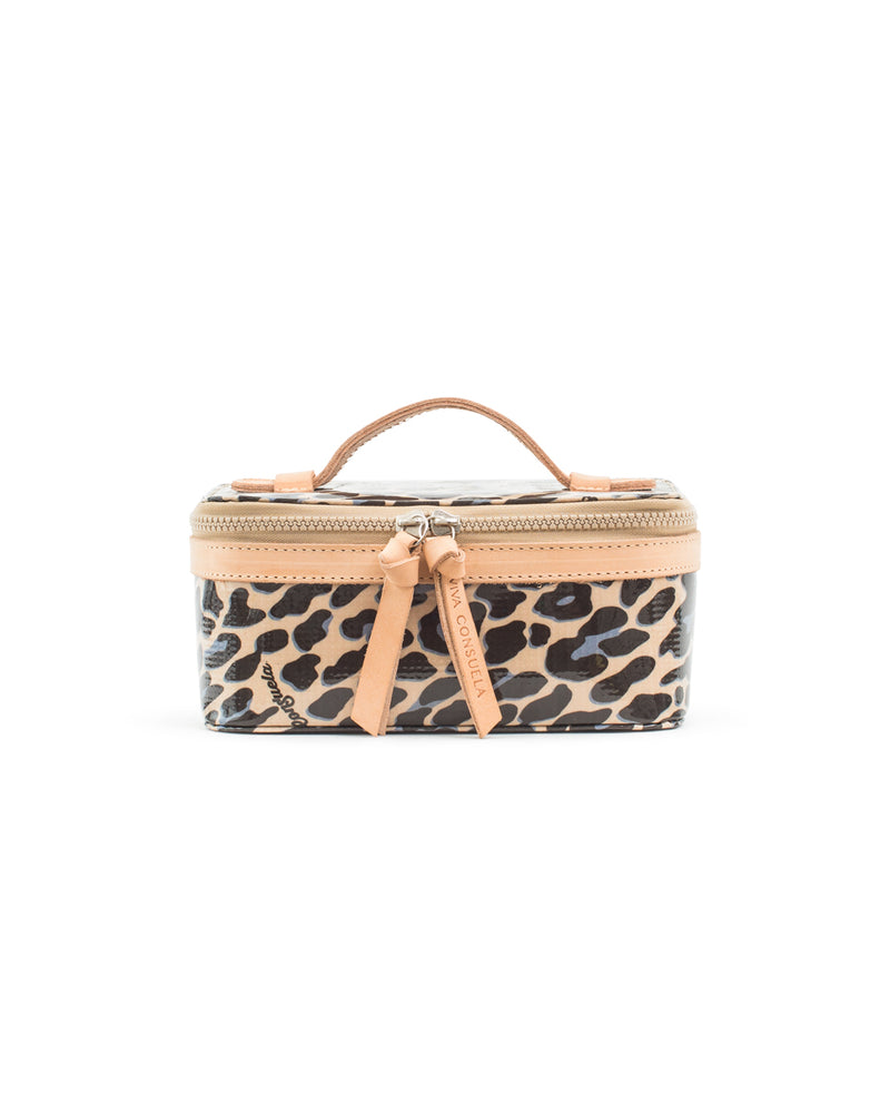 Blue Jag Mini Train Case in ConsuelaCloth™ by Consuela, front view
