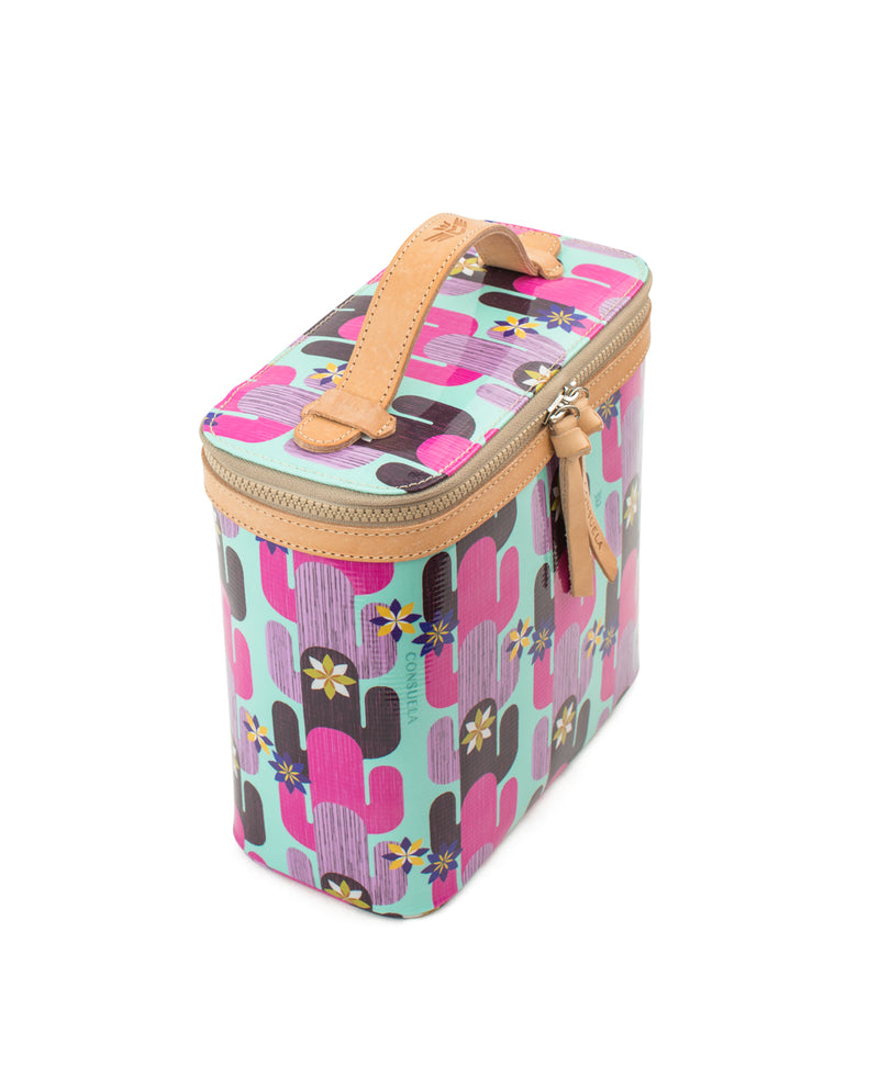 Buffy Slim Train Case in ConsuelaCloth™ by Consuela, side view