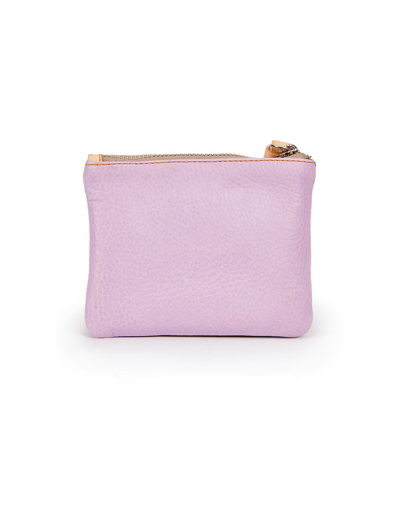Lila Bifold Wallet in lilac pebbled leather by Consuela, back view