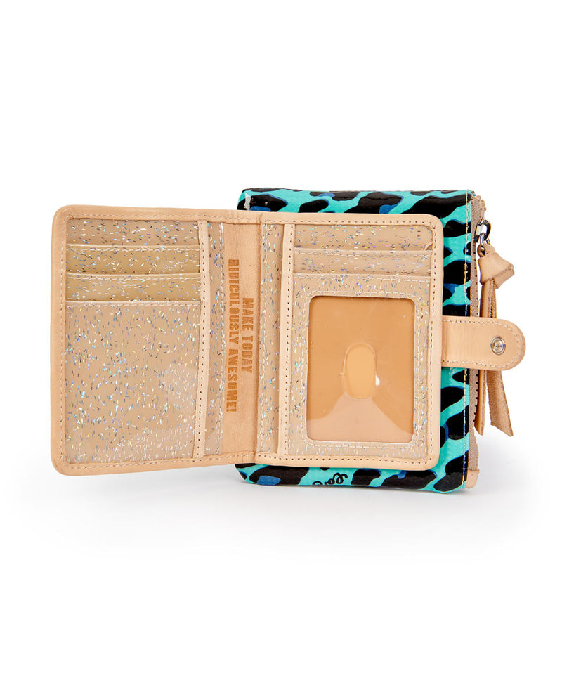 Gem Bifold Wallet in ConsuelaCloth by Consuela, open view