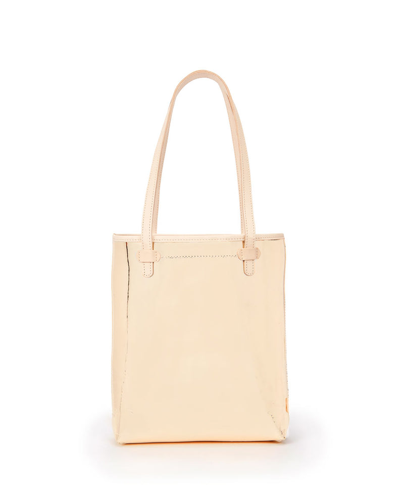 Goldie Everyday Tote in gold metallic by Consuela, back view