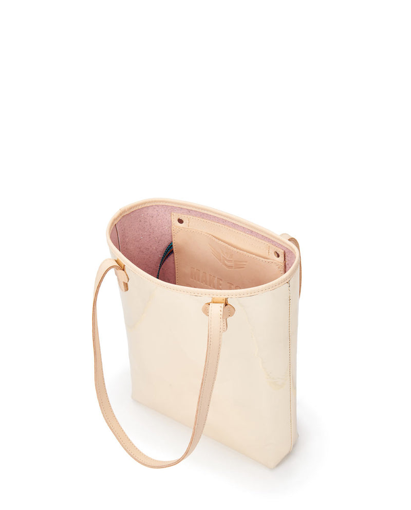 Goldie Everyday Tote in gold metallic by Consuela, interior view 2