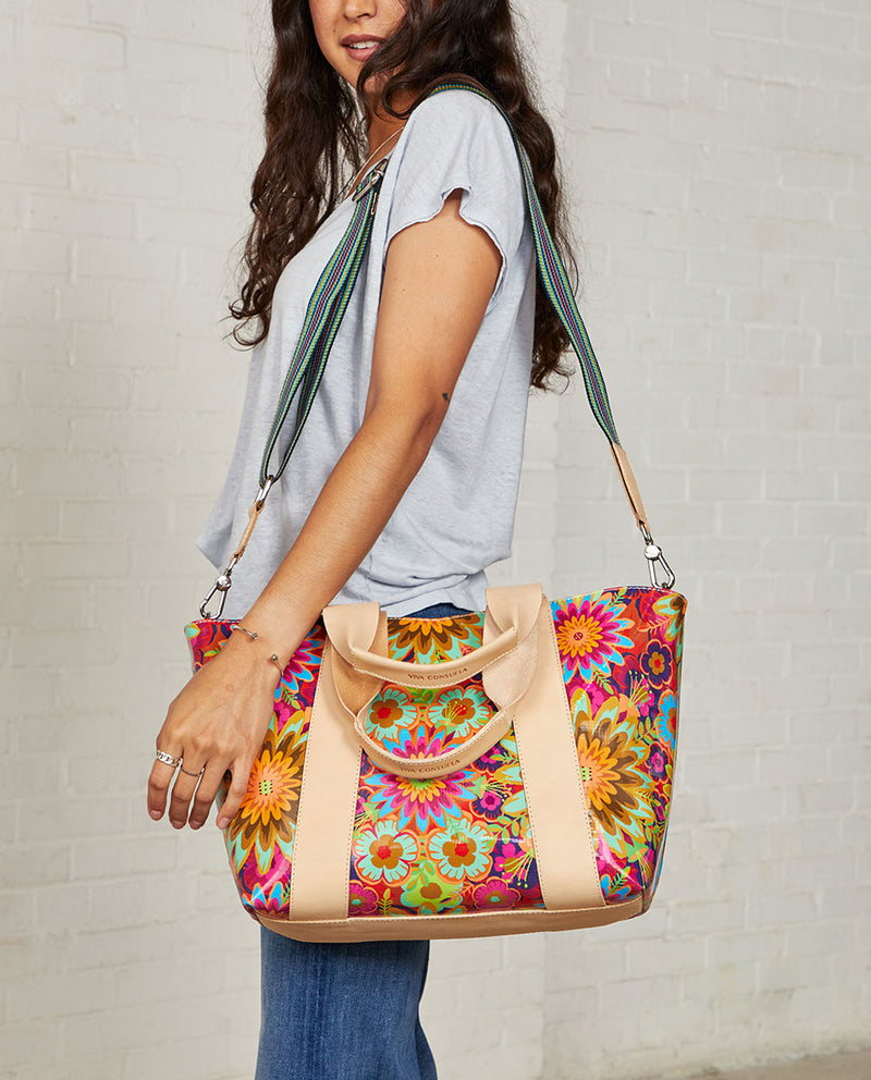 Consuela Trista Carryall On Model with Crossbody Strap