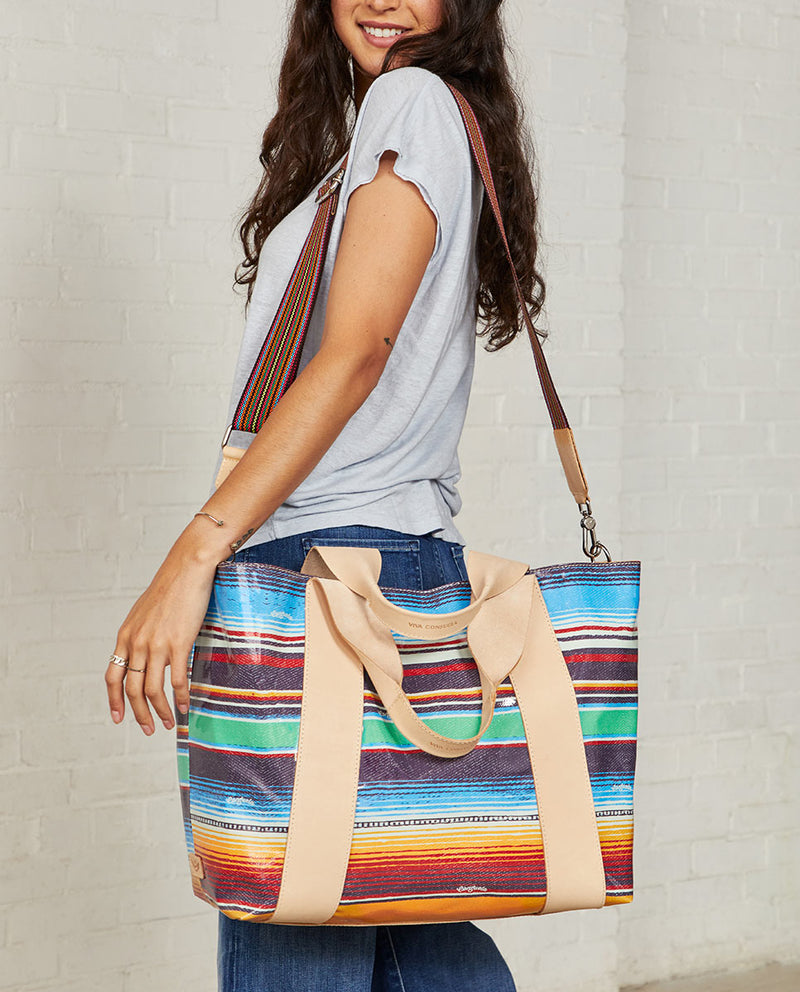 Consuela Deanna Large Carryall On Model with Crossbody Strap