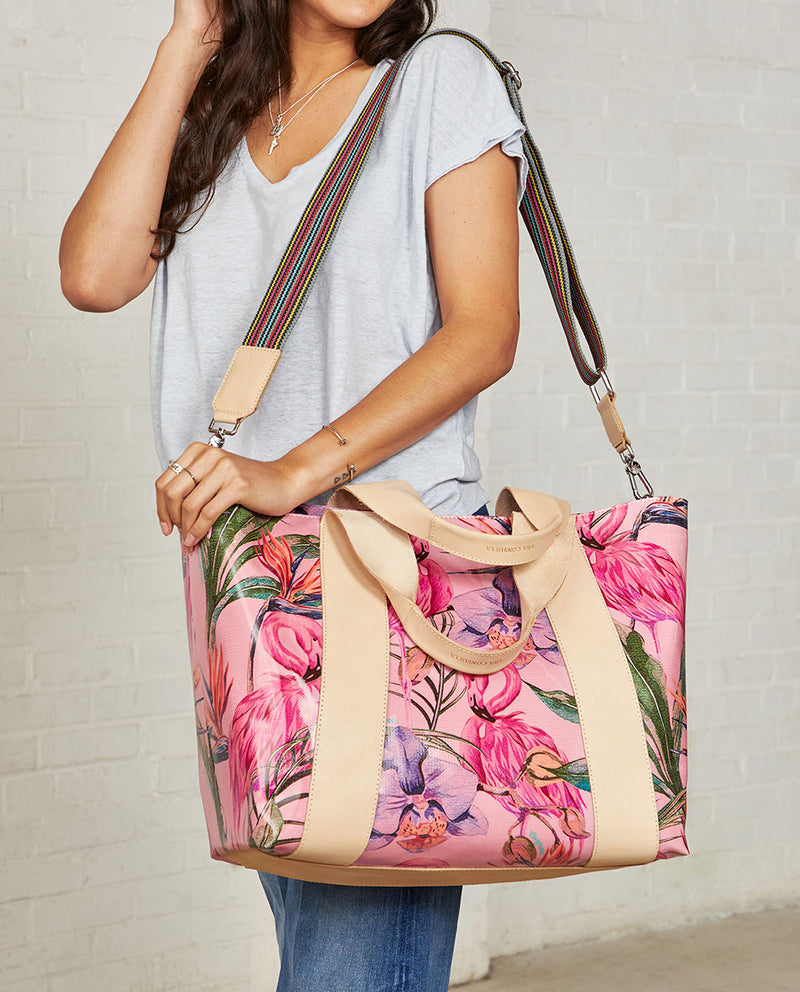 Consuela Brynn Large Carryall On Model with Crossbody Straps