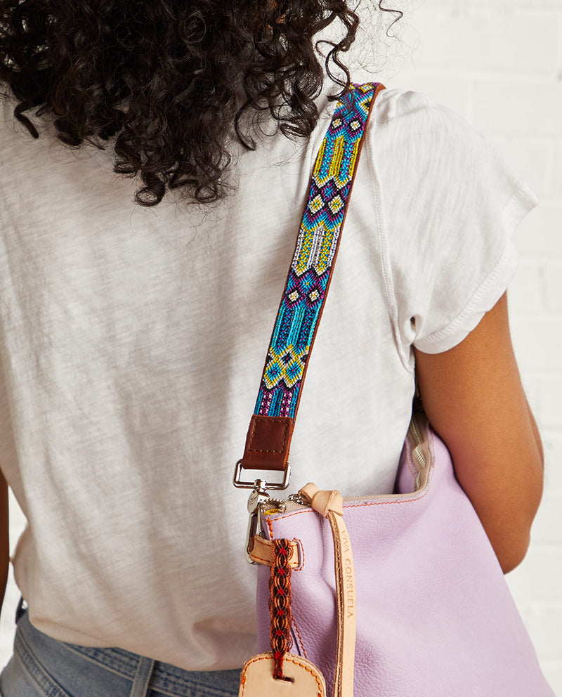 Blueberry Leather Shoulder Strap