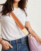 Orange Webbing Crossbody Strap
