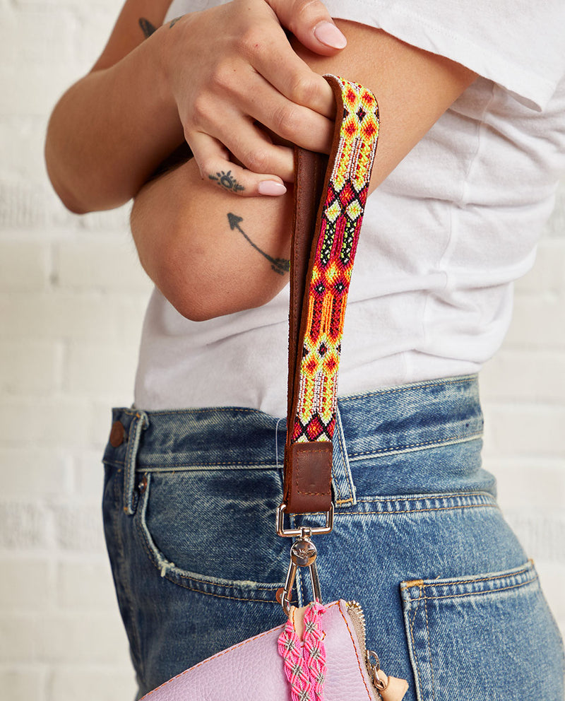 Sunrise Leather Wristlet Strap