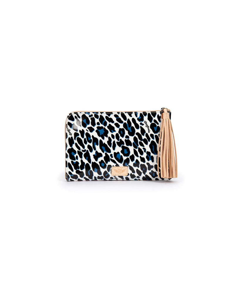 Lola L-Shaped Clutch in Lola and Maya ConsuelaCloth by Consuela, front view