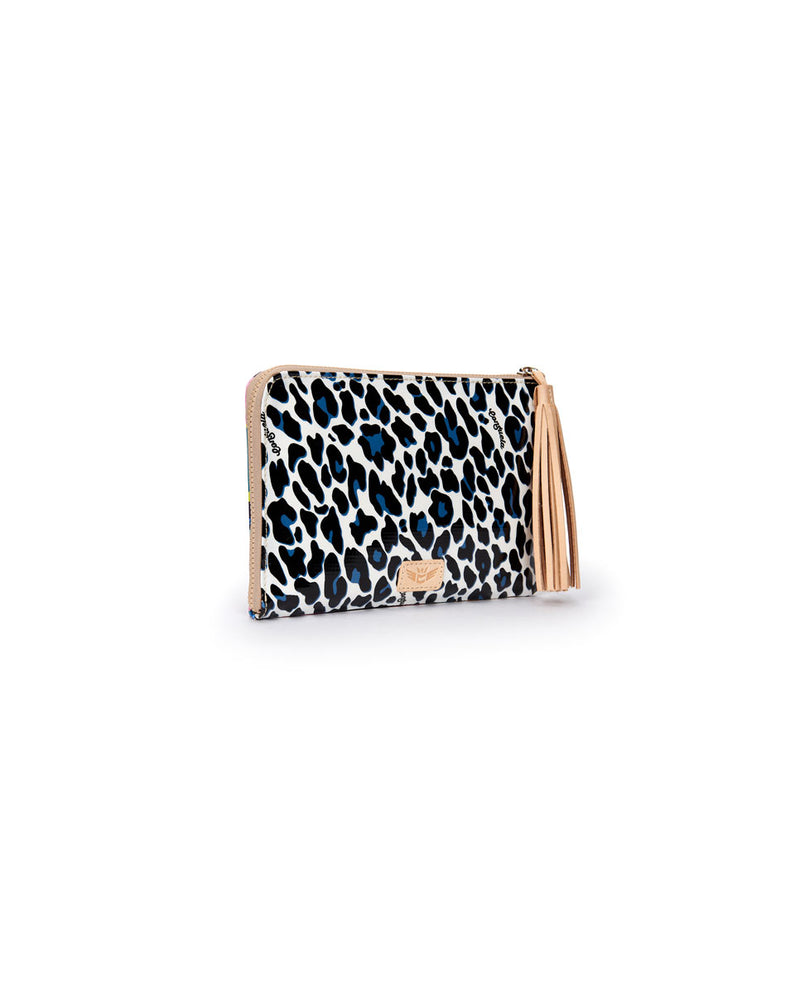 Lola L-Shaped Clutch in Lola and Maya ConsuelaCloth by Consuela, side view