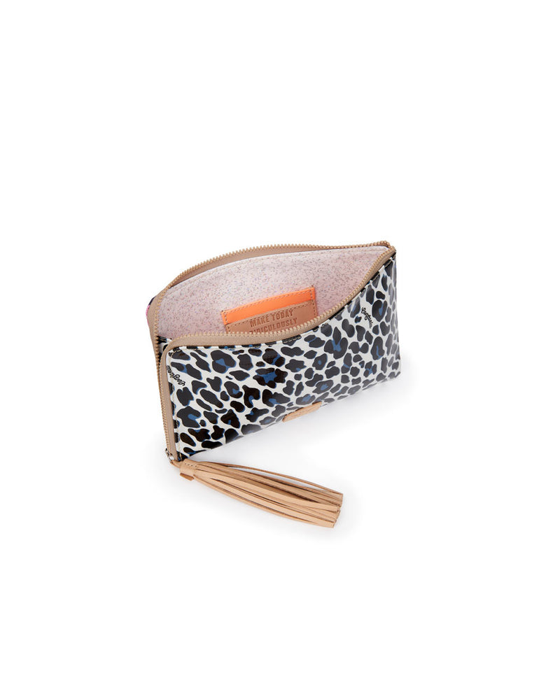 Lola L-Shaped Clutch in Lola and Maya ConsuelaCloth by Consuela, interior view