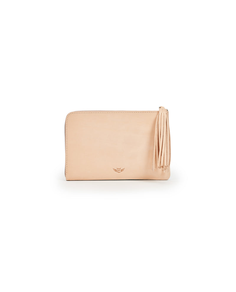 Consuela Peacock L-Shaped Clutch