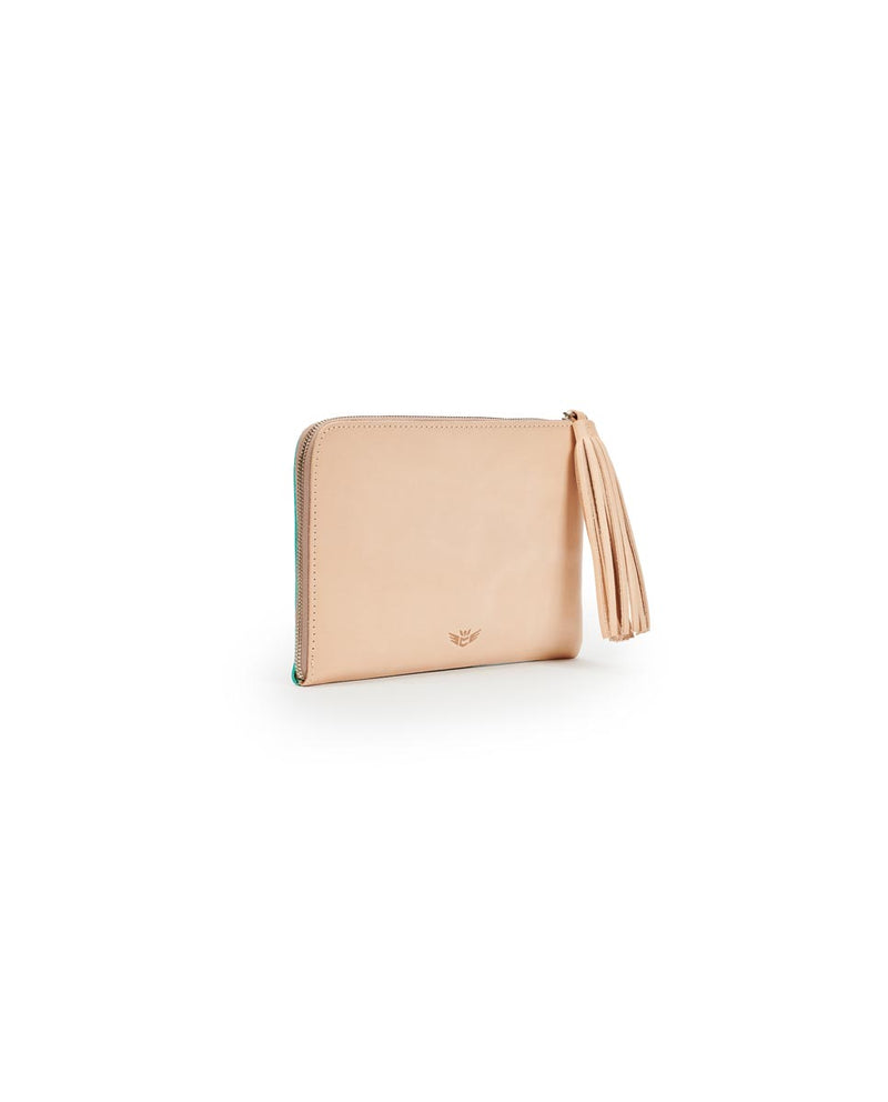 Consuela Peacock L-Shaped Clutch Side View