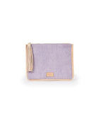 Mara Anything Goes Pouch in lilac corduroy by Consuela, front view
