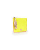 Sunshine Anything Goes Pouch in yellow ribbed fabric by Consuela, side view