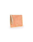 Sunset Anything Goes Pouch in orange corduroy by Consuela, side view