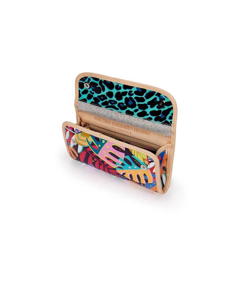 Maya Go-To Clutch in Maya ConsuelaCloth by Consuela, interior view