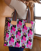 Buffy Classic Tote in ConsuelaCloth™ by Consuela, lifestyle image carried on shoulder