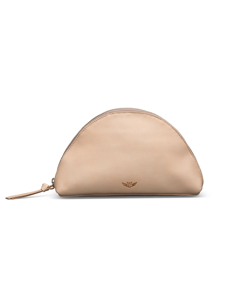 Diego Large Cosmetic in natural leather by Consuela, front view