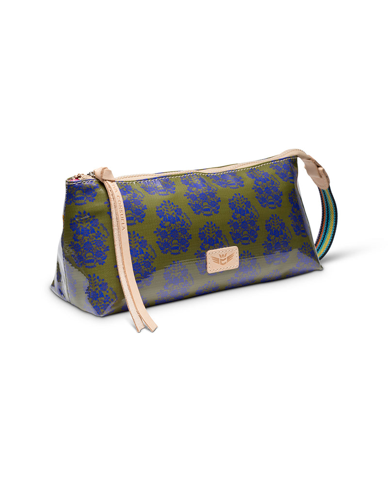 Olive tool bag in ConsuelaCloth™ by Consuela, side view